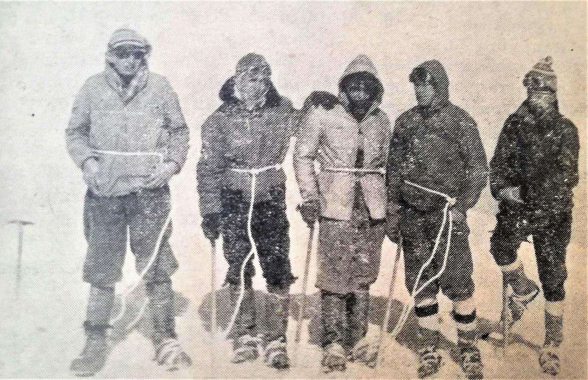 Bjelovarski planinari na Mont Blancu 1961.