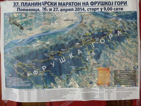 Karta 37.Fruškogorskog planinarskog maratona